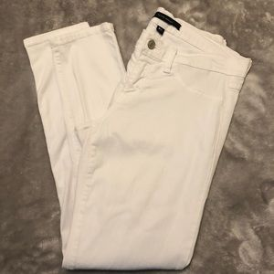 White Cropped Flying Monkey Jeans